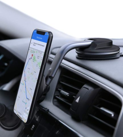 AUKEY Car Phone Mount 360 Degree Rotation Dashboard Magnetic Cell Phone Holder for Car Compatible