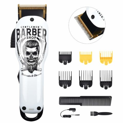 BESTBOMG Updated Version Professional Hair Clippers Cordless Haircut Kit