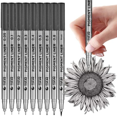 MISULOVE Micro-Pen Fineliner Ink Pens, Precision Multiliner Pens for Artist Illustration, Sketching, Technical Drawing, Manga, Scrapbooking