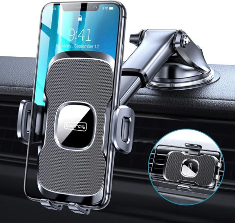 TORRAS [Ultra-Durable] Cell Phone Holder for Car, Universal Car Phone Mount Dashboard Windshield Vent Compatible
