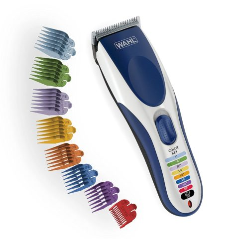 Wahl Color Pro Cordless Rechargeable Hair Clipper & Trimmer – Easy Color-Coded Guide Combs