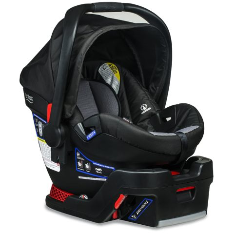Britax B-Safe 35 Infant Car Seat - Rear Facing  4 to 35 Pounds - Reclinable Base, 1 Layer Impact Protection, Ashton (E1A183D)