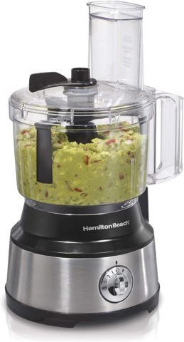 Hamilton Beach Food Processor & Vegetable Chopper for Slicing Shredding, Mincing, and Puree, 10-Cup Capacity