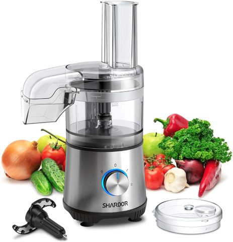 SHARDOR 3.5-Cup Food Processor Vegetable Chopper for Chopping, Pureeing, Mixing, Shredding and Slicing