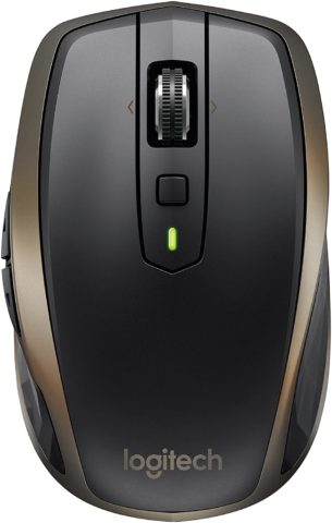 Logitech MX Anywhere 2 Wireless Mouse – Use On Any Surface, Hyper-Fast Scrolling, Rechargeable
